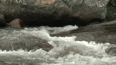 Malawi: water stream of a river in rock 1 Stock Video Footage