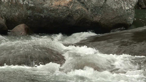 Malawi: water stream of a river in rock 1 Footage