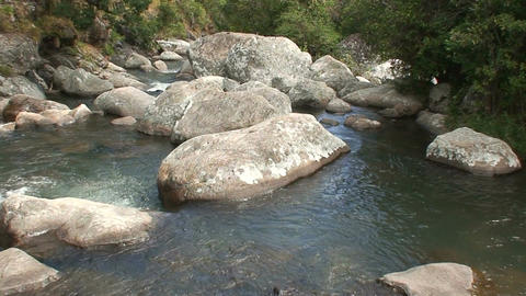 Malawi: rocks in a mountain river Stock Video Footage