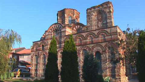Nessebar church Pantocrator Stock Video Footage