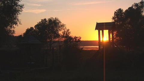 sunset lake 1 Stock Video Footage