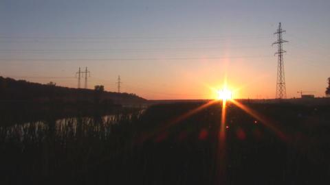 sunset lake 3 Stock Video Footage
