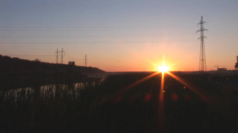 sunset lake 3 Footage