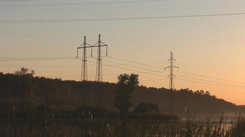 sunset power line 8 Footage