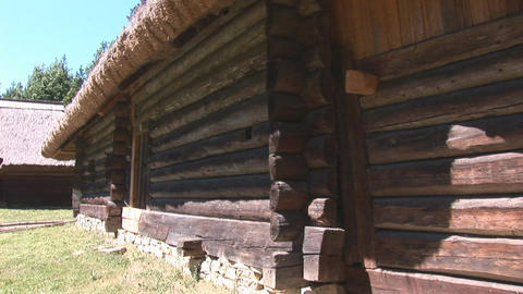 wooden house 1 Stock Video Footage