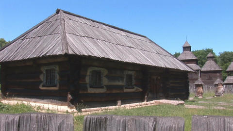wooden house 3 Stock Video Footage