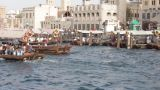 Dubai Creek Seen From Boat stock footage