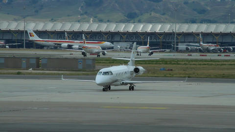 Airport 04 Madrid Barajas Stock Video Footage