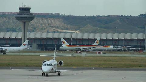 Airport 08 Madrid Barajas Stock Video Footage