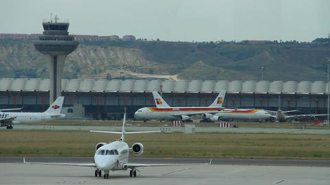 Airport 08 Madrid Barajas Stock Video Footage