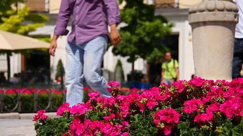 Mediterranean European City Scene 02 Footage