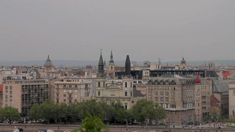 European City View 02 Stock Video Footage