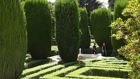 Jardines De Sabatini 06 Madrid Stock Video Footage