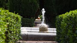 Jardines De Sabatini 09 Madrid Stock Video Footage