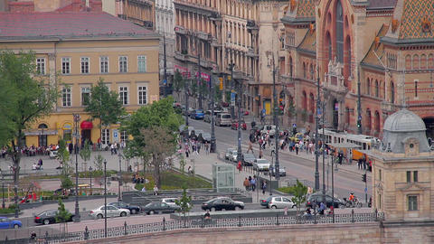 European Square Stock Video Footage
