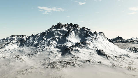Mountain Flight Animation Stock Video Footage