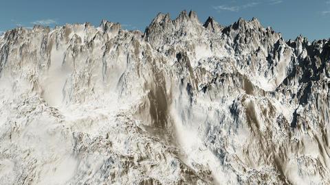 Mountain Flight Animation Stock Video Footage