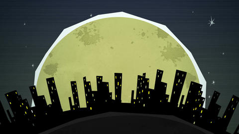 Cityscape At Night_Loop HD Animation