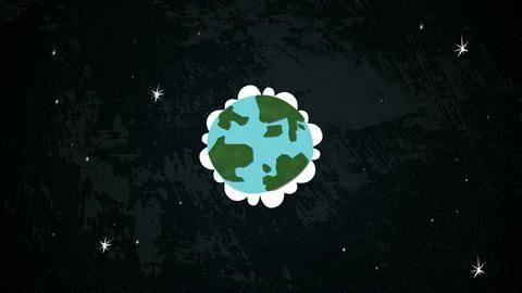 Earth In Space Loop HD Stock Video Footage