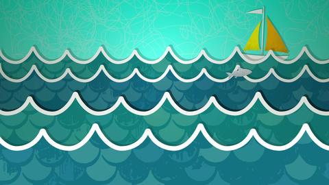 Ocean Scene Loop HD Stock Video Footage
