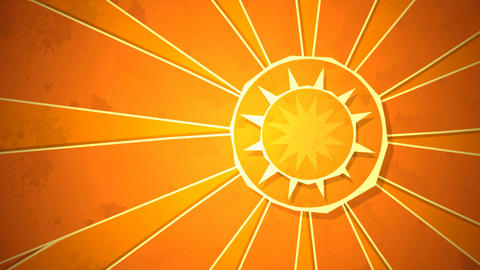 Radial Sunshine Loop HD Animation