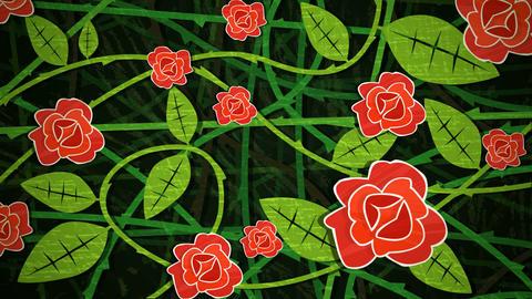 Red Rose Bush Loop HD Stock Video Footage