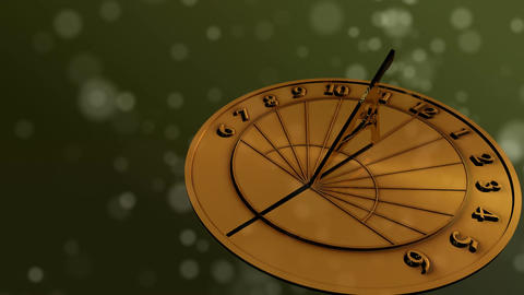 Sundial Through Day HD Animation