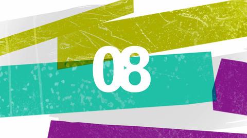 Countdown Paint Streaks Loop HD Animation