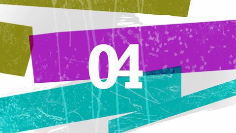 Countdown Paint Streaks Loop HD Stock Video Footage