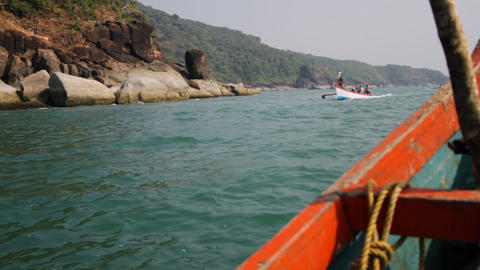 Sea and boat Stock Video Footage