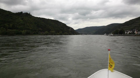 Traveling by cruise ship on a Rhine river 3 Footage