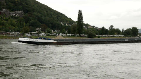 Traveling by cruise ship on a Rhine river 7 Footage