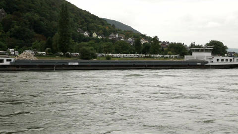 Traveling by cruise ship on a Rhine river 7 Stock Video Footage