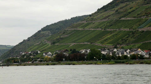 Traveling by cruise ship on a Rhine river 9 Footage