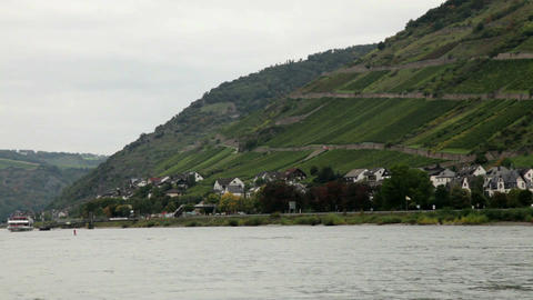 Traveling by cruise ship on a Rhine river 9 Stock Video Footage