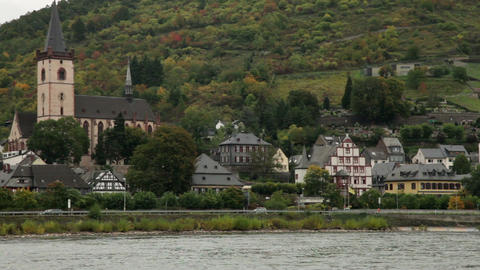 Traveling by cruise ship on a Rhine river 19 Footage