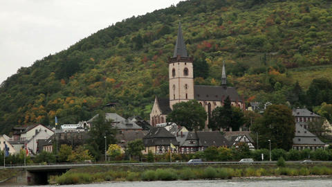 Traveling by cruise ship on a Rhine river 19 Stock Video Footage