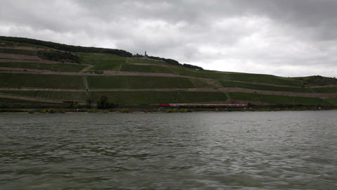 Traveling by cruise ship on a Rhine river 13 Footage