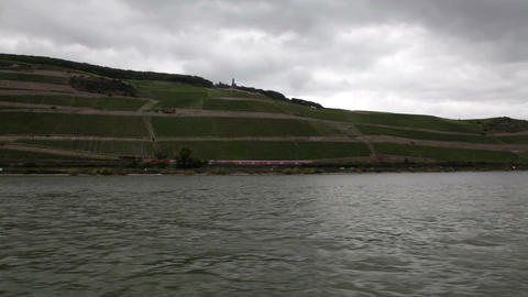 Traveling by cruise ship on a Rhine river 13 Stock Video Footage