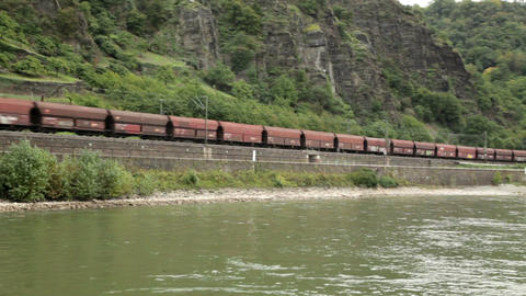 Traveling by cruise ship on a Rhine river 21 Stock Video Footage