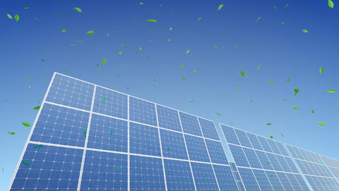 Solar Panel A1G1 HD Stock Video Footage
