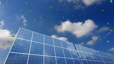Solar Panel B1CG HD Stock Video Footage