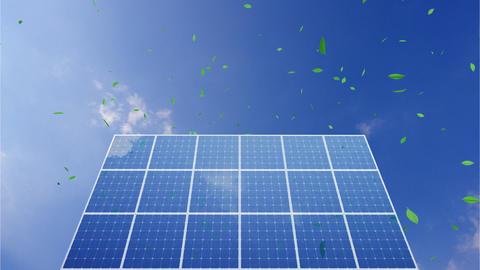 Solar Panel C1CG HD Stock Video Footage