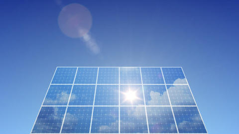 Solar Panel C1L HD Stock Video Footage