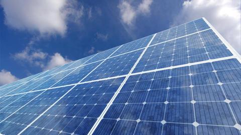 Solar Panel F1C HD Stock Video Footage