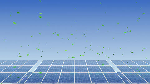 Solar Panel H1G HD Stock Video Footage