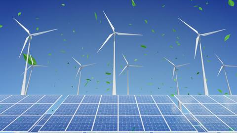 Solar Panel Wind Turbine H1WG HD Stock Video Footage