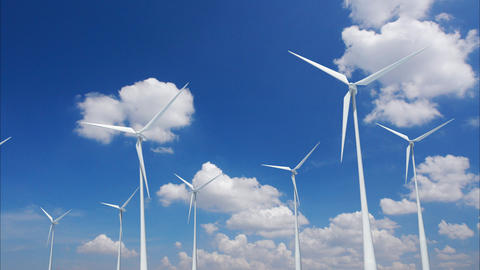 Wind Turbine B1CW HD Animation