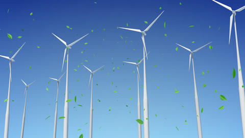Wind Turbine E1W HD Animation