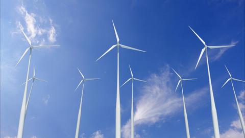 Wind Turbine H1CW HD Stock Video Footage